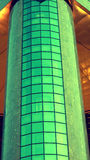 Cylindrical modern green building royalty free stock photography