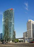 Business towers - Potsdamer Platz in Berlin. Royalty Free Stock Photography