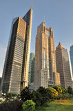 Business towers in Shanghai morning Royalty Free Stock Photography
