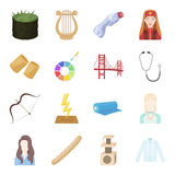 Business, trade, ripen and other web icon in cartoon style.game, shirt, clothing icons in set collection. Royalty Free Stock Photography