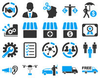 Business, trade, shipment icons Royalty Free Stock Photos