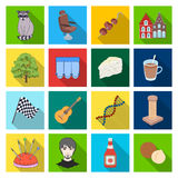 Business, trade, tourism and other web icon in flat style.architecture, restaurant, hobby icons in set collection. Stock Photography