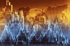Business Trading Concept. Illustration. Global Economy and the Stock Markets Stock Photo