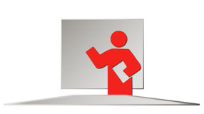 Business training. An illustrated person holding a speech Stock Photos