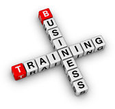 Business training. Red and white cubes royalty free illustration