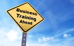 Business training ahead sign stock illustration