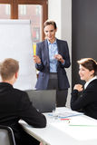 Business training in the business centre Royalty Free Stock Photos