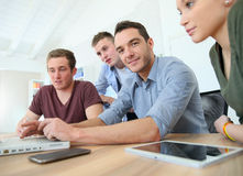 Business training in classroom. Group of young people in business training Royalty Free Stock Image