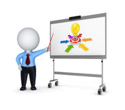 Business training concept. On white background.3d rendered Royalty Free Stock Photo
