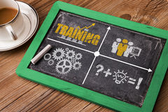 Business training concept. On blackboard royalty free stock photos
