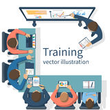 Business training concept vector illustration