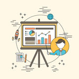 Business training concept Royalty Free Stock Images