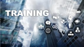 Business training concept. Training Webinar E-learning. stock photo