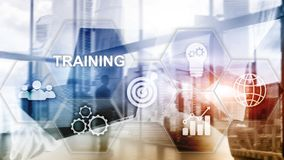 Business training concept. Training Webinar E-learning. Financial technology and communication concept. stock photography