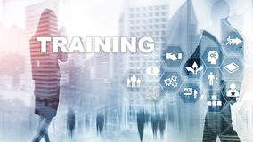 Business training concept. Training Webinar E-learning. Financial technology and communication concept. Business training concept. Training Webinar E-learning stock image