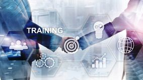 Business training concept. Training Webinar E-learning. Financial technology and communication concept.  stock image