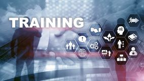 Business training concept. Training Webinar E-learning. Financial technology and communication concept.  stock images