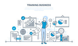 Business training, consulting, learning, teaching, professional and career growth, teamwork. Business training, consulting, learning and teaching, professional Stock Photos