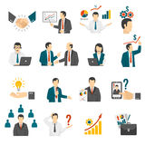 .Business Training  Consulting Service Icons Set. Royalty Free Stock Images
