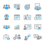 Business training education icons vector Royalty Free Stock Images