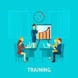 Business Training Flat Icon Stock Image