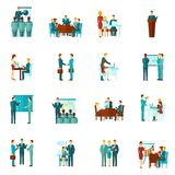Business Training Flat Icons Royalty Free Stock Image