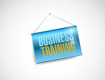 Business training hanging banner illustration Stock Image