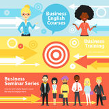 Business Training Horizontal Banners Royalty Free Stock Photography