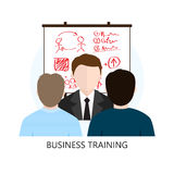 Business Training Icon Flat Design Concept Stock Images