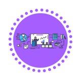 Business Training Icon Flat Design Stock Image