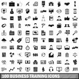 100 business training icons set, simple style Stock Images