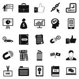 Business training icons set, simple style. Business training icons set. Simple set of 25 business training vector icons for web isolated on white background Royalty Free Stock Photos
