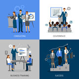 Business Training 2x2 Images Set Royalty Free Stock Photography