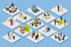 Business Training Isometric Set Stock Photo