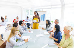 Business Training in the Office Royalty Free Stock Photography