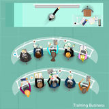 Business training at office. Vector illustration Royalty Free Stock Image