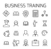 Business training related vector icon set. vector illustration