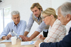 Business training with seniors Stock Photos