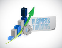 Business training sign illustration design Royalty Free Stock Image