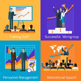Business Training. Success Motivational Managment Royalty Free Stock Photos