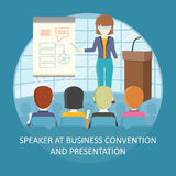 Business Training Vector Concept in Flat Design. Stock Photos