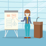 Business Training Vector Concept in Flat Design. Royalty Free Stock Photo