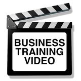 Business Training Video. And employee instruction course as a 3D illustration skills training and instructional program Stock Photos