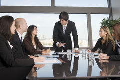Business training where group of persons is wearin