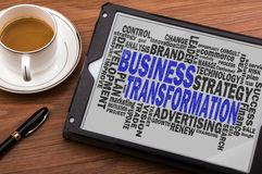 Business transformation word cloud Stock Images