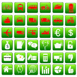 Business and transport icons Stock Photography