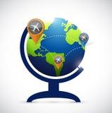 Business transportation atlas map illustration Stock Images
