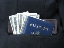 Business travel. Necessities for the business traveler Royalty Free Stock Photos