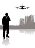 Business travel vector illustration