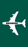 Business Travel. Airplane on a green background, for business travel royalty free illustration